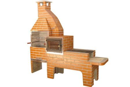 churrasqueira com forno e fogão desenhado
